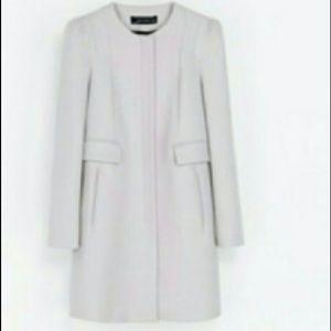 Zara gray lilac peacoat sz S